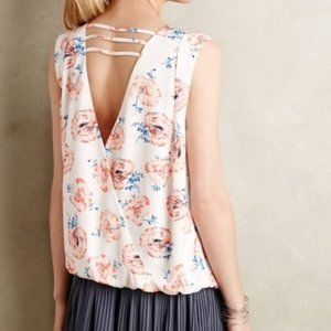 Anthropologie Meadow Rue Pleated Petals Tank